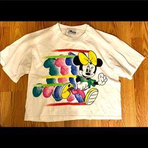 Vintage Minnie Mouse Disney Crop Top